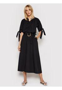 Birgitte Herskind Sukienka codzienna Giselle 4041609 Czarny Regular Fit. Okazja: na co dzień. Kolor: czarny. Typ sukienki: proste. Styl: casual