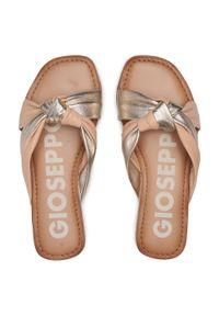 Gioseppo - Klapki GIOSEPPO - Almon 62943 Nude. Kolor: złoty, wielokolorowy, beżowy. Materiał: skóra. Sezon: lato