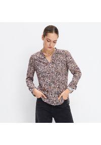 Mohito - Wzorzysta koszula - Brązowy. Kolor: brązowy