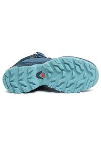 Niebieskie buty trekkingowe salomon Gore-Tex, z cholewką