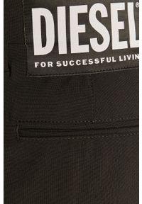 Czarne spodnie materiałowe Diesel
