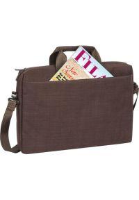 Brązowa torba na laptopa RIVACASE elegancka
