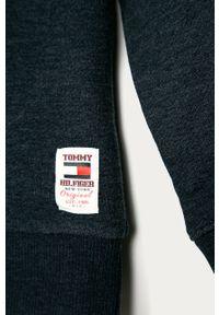 Niebieska bluza TOMMY HILFIGER z aplikacjami, z okrągłym kołnierzem, casualowa #3