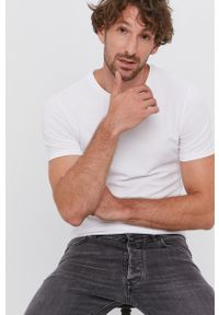 Drykorn - T-shirt Cadan (2-pack). Kolor: biały. Materiał: dzianina. Wzór: gładki