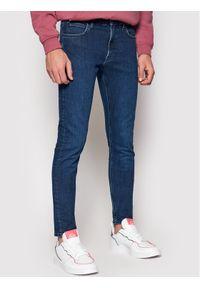 Lee Jeansy Malone L736LSTC Granatowy Skinny Fit. Kolor: niebieski