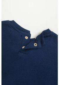 Niebieska bluza Mango Kids casualowa, na co dzień, z aplikacjami, bez kaptura #5