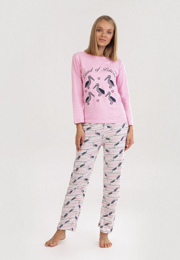 Różowy Komplet Piżamowy Jaennys