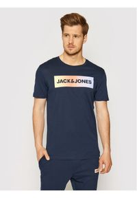 Jack & Jones - Jack&Jones Komplet t-shirt i spodnie Jacbrad 12192766 Granatowy Regular Fit. Kolor: niebieski
