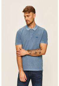 Niebieska koszulka polo Levi's® polo, w kolorowe wzory, biznesowa