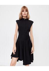 Czarna sukienka mini Alexander McQueen asymetryczna