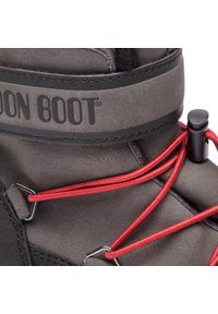 Szare buty zimowe Moon Boot z cholewką