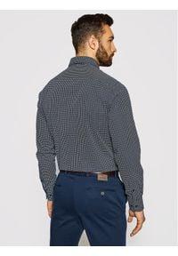 Tommy Hilfiger Tailored Koszula Geo Dot Prt MW0MW16466 Granatowy Regular Fit. Kolor: niebieski