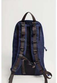 Niebieski plecak Mango Man gładki
