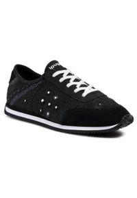 Desigual - Sneakersy DESIGUAL - Exotic 21SSKA09 2000. Okazja: na co dzień. Kolor: czarny. Materiał: zamsz, skóra, materiał. Szerokość cholewki: normalna. Wzór: aplikacja. Styl: casual