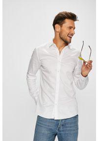 Biała koszula Only & Sons na co dzień, długa, casualowa