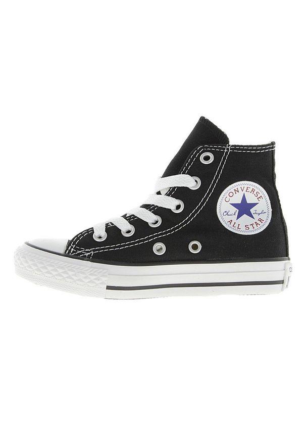 Czarne trampki Converse z cholewką, na sznurówki