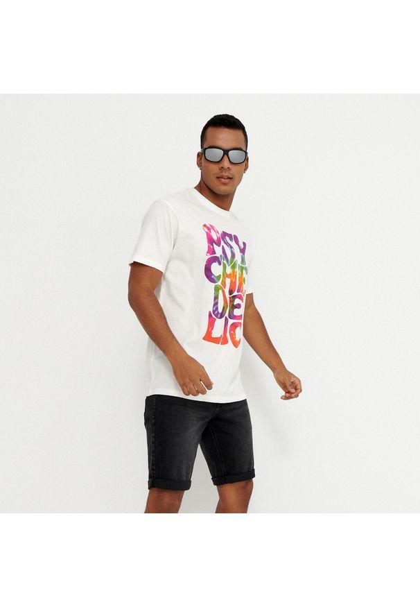 House - Koszulka z nadrukiem Psychedelic - Kremowy. Kolor: kremowy. Wzór: nadruk