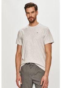 Szary t-shirt Tommy Jeans gładki