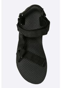 Czarne sandały Teva gładkie, na obcasie
