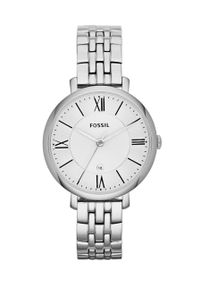 Fossil - FOSSIL - Zegarek ES3433. Kolor: srebrny. Materiał: materiał