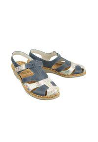 Niebieskie sandały Comfortabel na rzepy