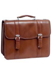 Teczka na laptopa MCKLEIN Flournoy 15.6 cali Brązowy. Kolor: brązowy. Materiał: skóra. Styl: elegancki #2