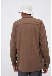 !SOLID - Koszula bawełniana. Typ kołnierza: kołnierzyk klasyczny. Kolor: brązowy. Materiał: bawełna. Długość rękawa: długi rękaw. Długość: długie. Wzór: gładki. Styl: klasyczny