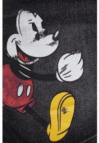 Desigual - Spódnica jeansowa Mickey Mouse. Okazja: na co dzień. Kolor: szary. Materiał: jeans. Wzór: motyw z bajki. Styl: casual