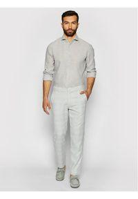 Pierre Cardin Spodnie materiałowe 3520/000/4911 Szary Regular Fit. Kolor: szary. Materiał: materiał