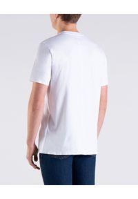 PAUL & SHARK - Biały t-shirt z odblaskowym logo. Kolor: biały. Materiał: bawełna. Styl: elegancki