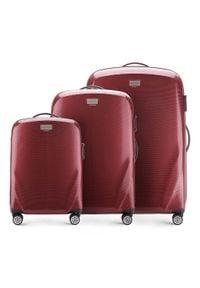 Wittchen - Zestaw walizek z polikarbonu jednokolorowych. Kolor: czerwony. Materiał: guma