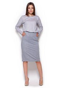 Szara sukienka dresowa Figl na co dzień, midi
