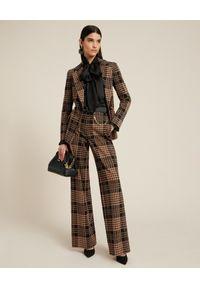 Luisa Spagnoli - LUISA SPAGNOLI - Spodnie w kratę Overall. Stan: podwyższony. Kolor: brązowy. Materiał: wiskoza