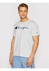 Champion T-Shirt Script Logo Crew 210972 Szary Regular Fit. Kolor: szary