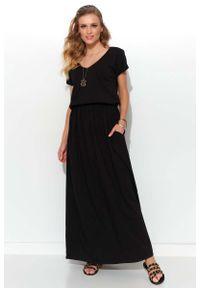 Czarna sukienka letnia Makadamia maxi