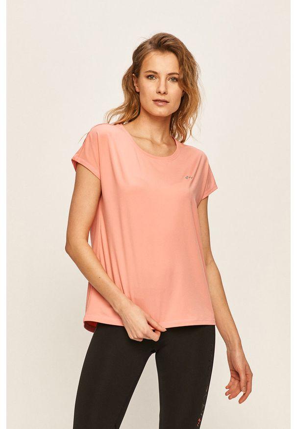 Only Play - T-shirt. Okazja: na co dzień. Kolor: różowy. Materiał: elastan, dzianina, poliester. Wzór: gładki. Styl: casual