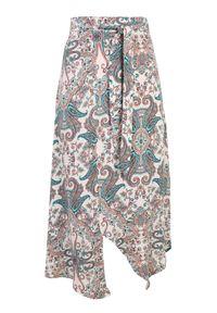TOP SECRET - Spódnica damska z wiskozy. Okazja: na co dzień. Stan: podwyższony. Kolor: niebieski. Materiał: tkanina, wiskoza. Wzór: kolorowy. Sezon: lato, wiosna. Styl: casual