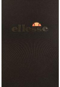 Czarny top Ellesse z okrągłym kołnierzem, z nadrukiem, na ramiączkach, sportowy