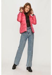 Różowa kurtka Calvin Klein na co dzień, casualowa, z kapturem #6