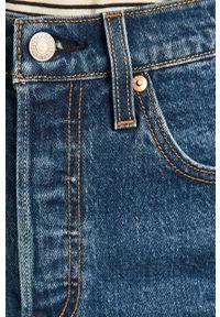 Niebieskie szorty Levi's® casualowe, na spotkanie biznesowe, gładkie