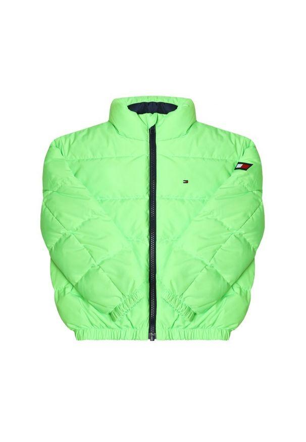 Zielona kurtka puchowa TOMMY HILFIGER