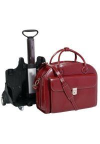 Czerwona torba na laptopa MCKLEIN elegancka