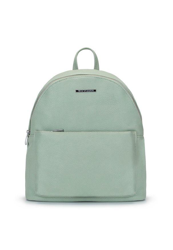 Wittchen - Damski plecak miejski z kolorową podszewką. Materiał: skóra ekologiczna. Wzór: kolorowy. Styl: wakacyjny, klasyczny
