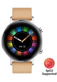 Beżowy zegarek HUAWEI elegancki, smartwatch