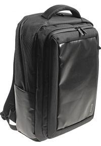 Czarny plecak na laptopa Accura biznesowy, w kolorowe wzory