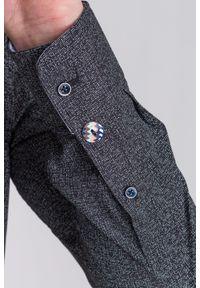 Czarna koszula Trussardi Jeans na spotkanie biznesowe, z nadrukiem