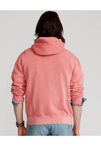 Ralph Lauren - RALPH LAUREN - Bawełniana bluza z kapturem. Typ kołnierza: kaptur. Kolor: niebieski. Materiał: bawełna. Wzór: haft
