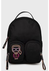 Karl Lagerfeld - Plecak. Kolor: czarny. Materiał: materiał