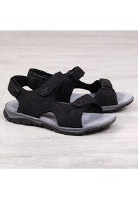 Czarne sandały American Club na rzepy, sportowe