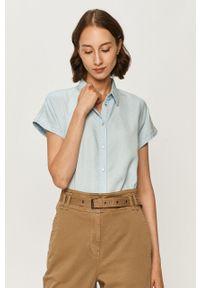 Niebieska koszula Marc O'Polo casualowa, polo, krótka